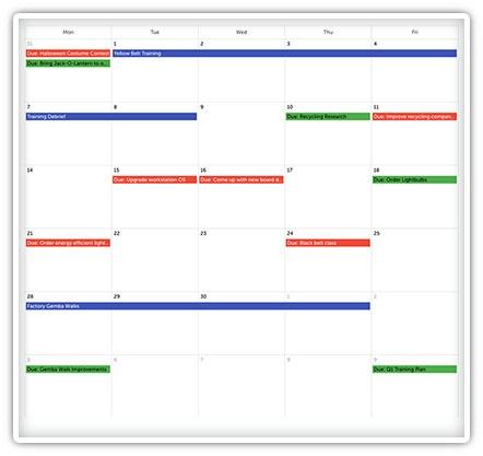 Improvement Calendar