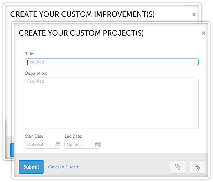 Create Your Custom Improvements and Projects