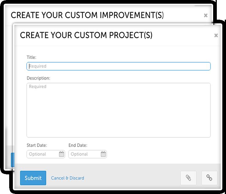 Custom Improvement Templates