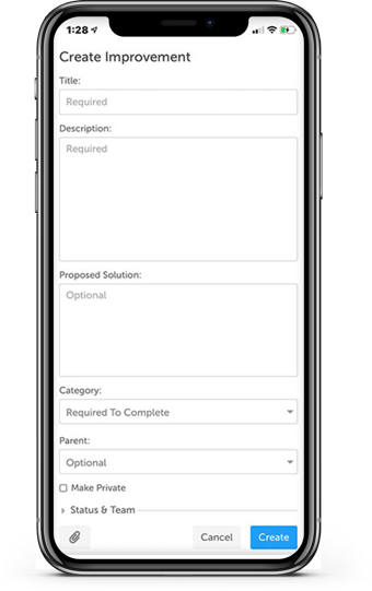 iPhone Submit Screen