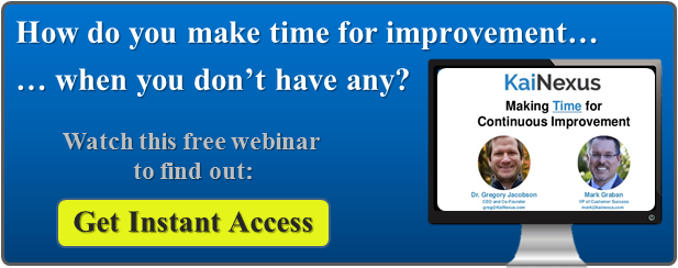 Webinar Recording: Making Time for Continuous Improvement